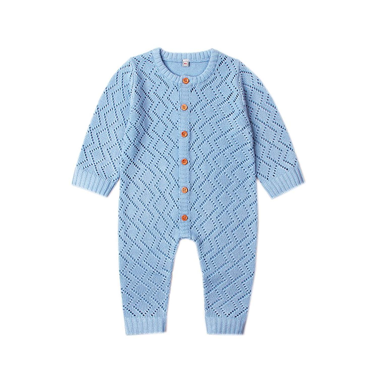 82771143a7a9c1 Get Quotations · Ziyunlong Baby Knit Romper Newborn Long Sleeve Breathable  Sweater One Piece Jumpsuit Infant Baby Clothes