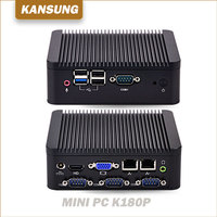 2 Ethernet Lan Cheap Fanless Industrial Computer Dual Core Personal Computer J1800 Barebone system 12V Win7 Mini PC X86