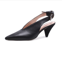 Summer new baotou pointed low heel shoes