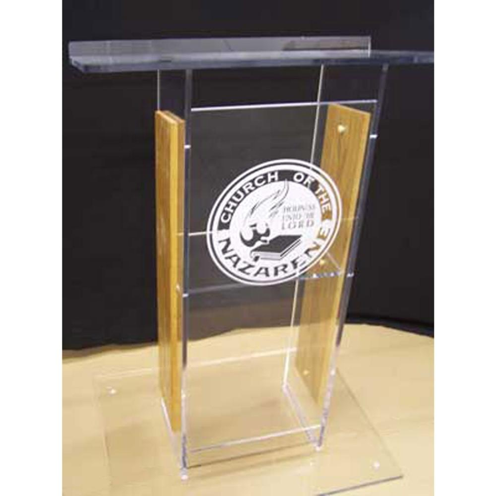 Factory Directly Acrylic Church Pulpit Perspex School Podium Lucite Church Rostrum