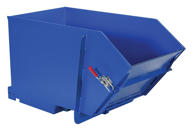 Vestil HDROP-50-MD Self-Dumping Hopper, 4000 lb Capacity, 1/2 cubic yard, Heavy Duty Steel, Blue