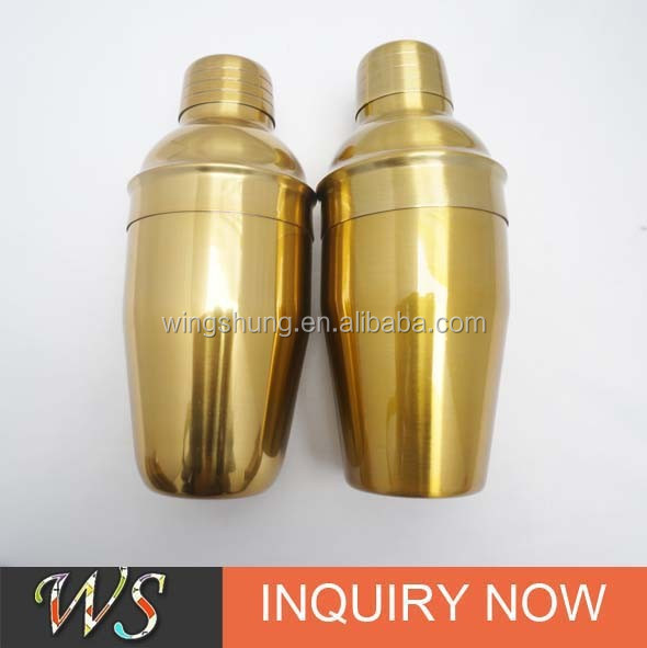 Golden Color Plated stainless steel cocktail shaker
