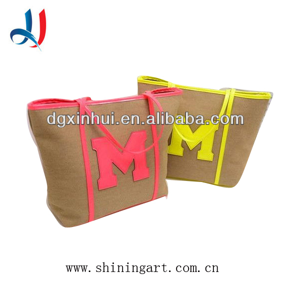 New Product Hot Sell Handbags With Printing, Canvas Handabgs for Women
