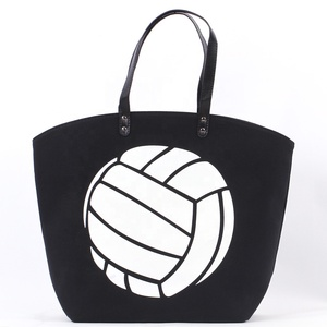 Wholesale Custom Fashionable Monogram Soccer Black Girls Tote Bag