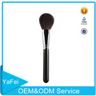 Hot sale goat hair oval makeup brush oem odm wood handle professional makeup brushes