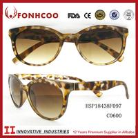 FONHCOO Wholesale High Top Quality New Design Colored Demi Cheap Plastic Sunglasses