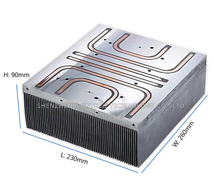 Skived Fin Cnc Customized Dc/dc Power Copper Graphene Heat Sink ...
