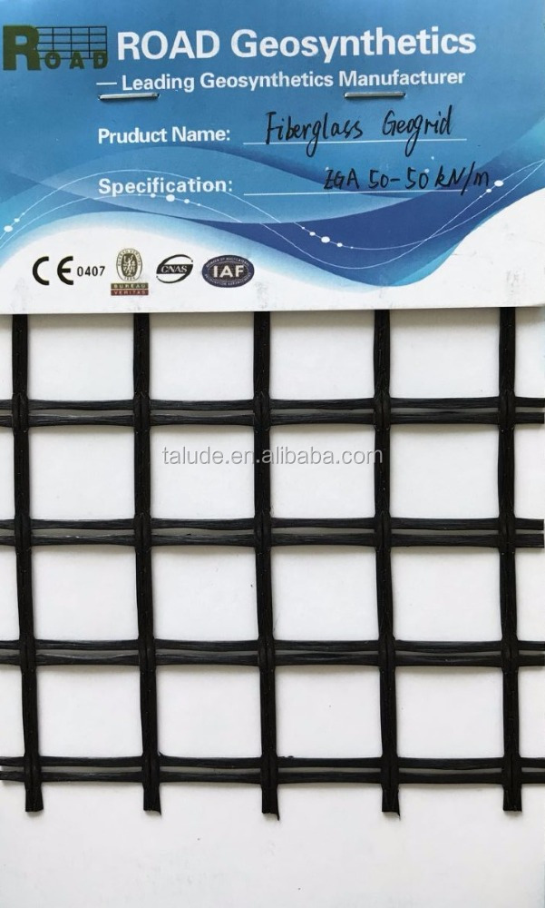 Geosynthetic fiberglass geogrid glass grid for road reinforcement