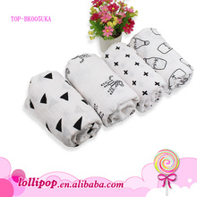Hot gift Muslin soft cotton super absorbent fabric newborn products Baby fleece Blanket with printing