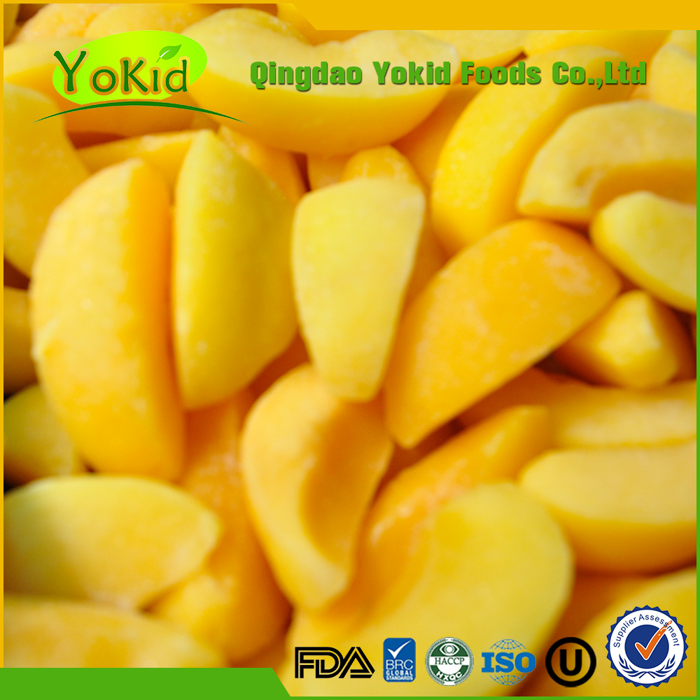 Chinese IQF frozen yellow peach with export standard