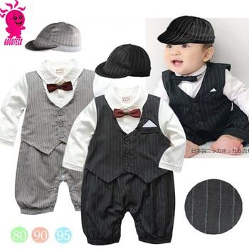 Gentle Boy Kids Baby Formal Suit Set Christening Outfit Wedding Children Little Boys Clothing