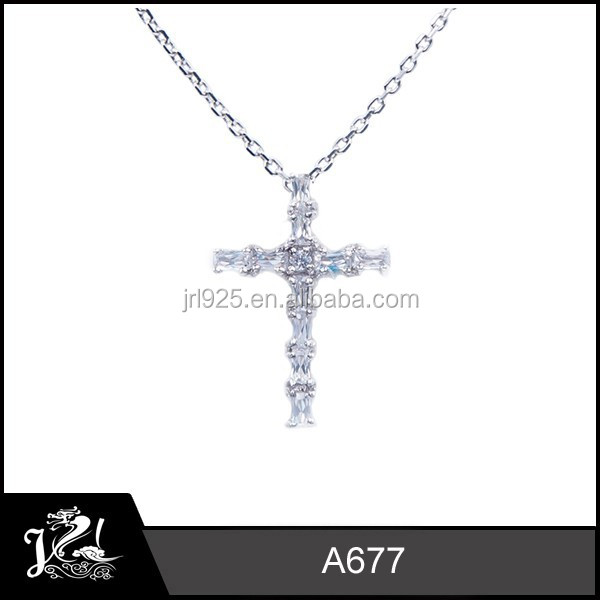 Fashion 925 Sterling Silver Filled Men and Women Cross Pendant