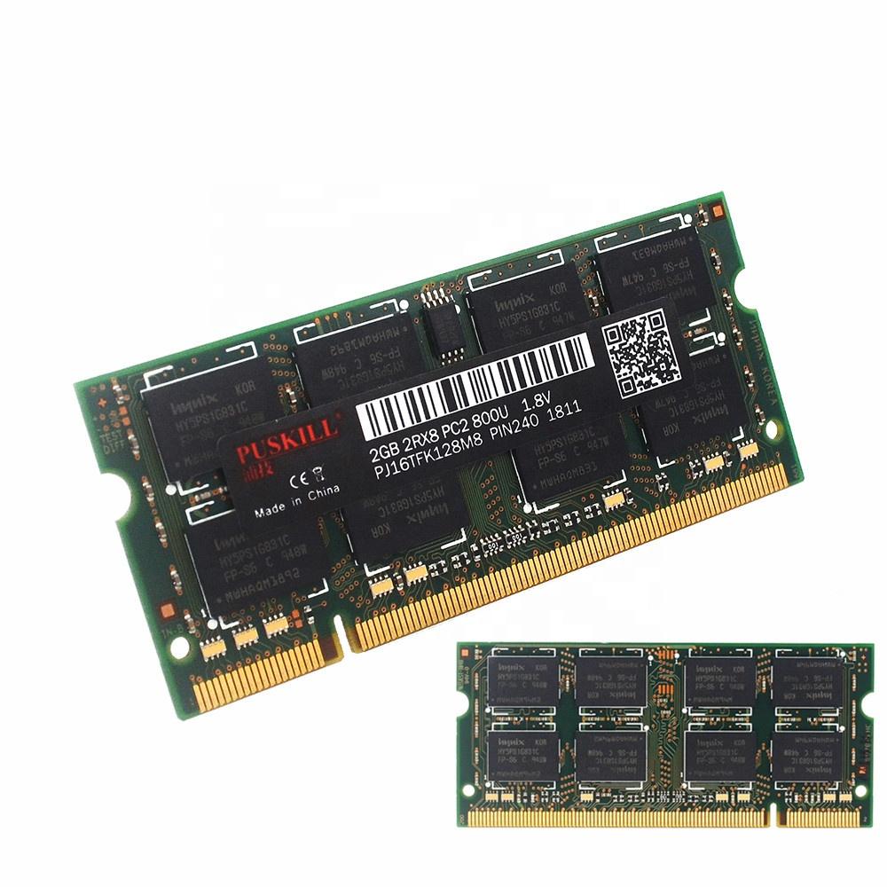 Shenzhen whosale DDR2 2GB 2R*8 800mhz Sodimm Ram