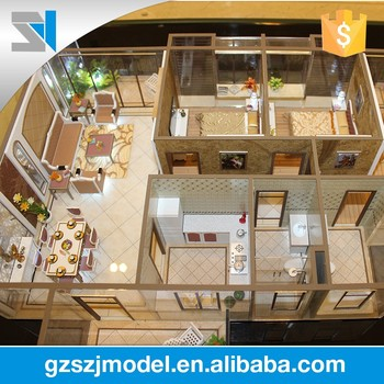 House Plan Internal Layout Model With All Furniture Scale