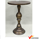 Antique Bronze Round Pedestal High Balcony Table