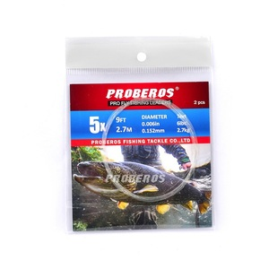 PRO BEROS 10 Pieces Tapered Leader Fly Fishing Line 9FT 0X-6X Nylon Fly Fishing Leader Clear