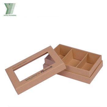 Pvc Window Kraft Cardboard Paper Chocolate Gift Boxes With Compartments Buy Kraft Cardboard Paper Boxes Chocolate Gift Boxes With Compartment Pvc