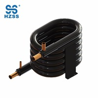 Single system double copper titanium tube pipe coaxial pool heat pump condenser heat exchanger