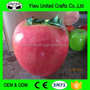 Apple Plástico Grande Frutas Redondo Rojo Manzanas Artificial De R5jL4A