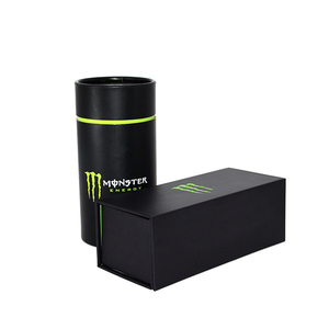 Custom logo printing cylinder / square energy drink bottle cardboard tube packaging box