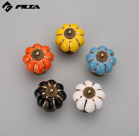 wholesale colorful round ceramic porcelain furniture cabinet knobs 5122
