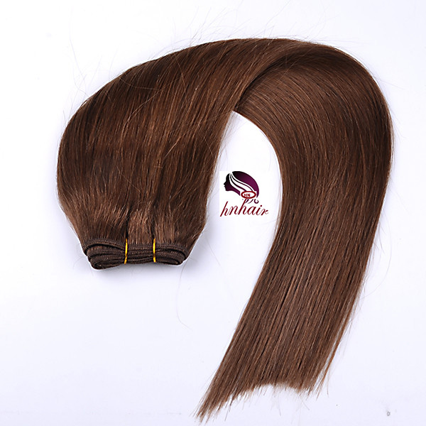 Hot straight ethiopian virgin hair weft high quality darling hair extension virgin remy human hair weave #04 Dark Brown