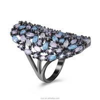 Bulk Sale Big Finger Ring New Design Semi mount 14k Yellow Gold Diamond Gold Ring For Females