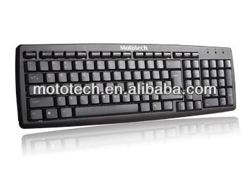 Good quality ultra Slim Keyboard for pc Notebook Waterproof Black