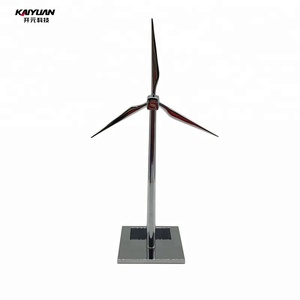 Hot selling mini solar power metal windmill for commercial souvenir