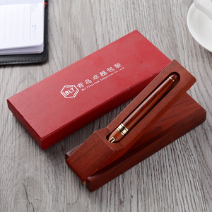 Top sale gift items for 2018 promotional rosewood pen set with gift wood box