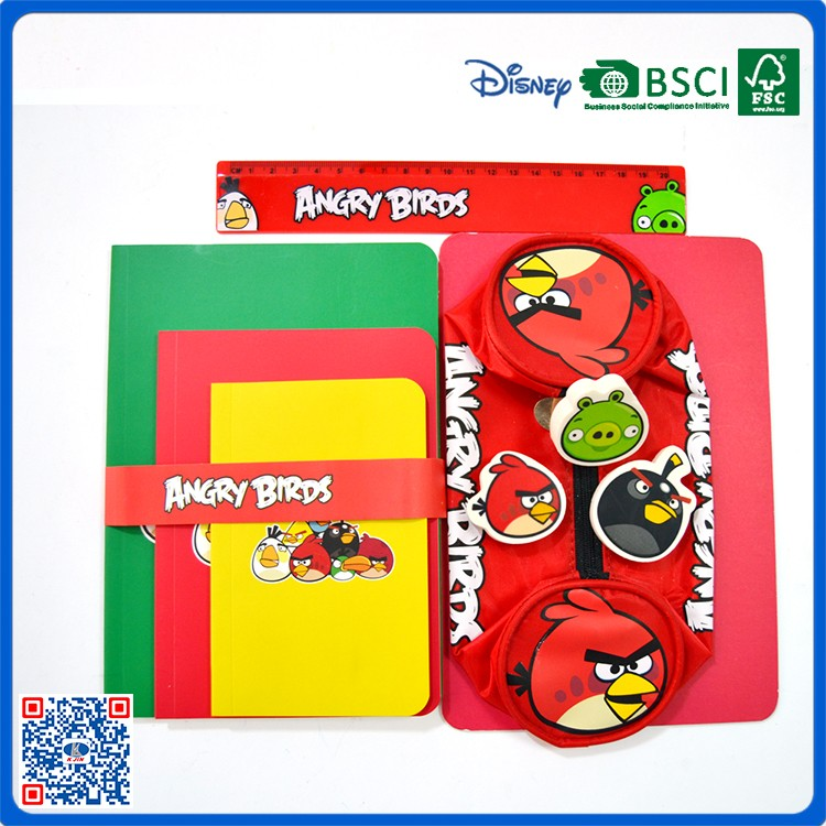 2017 hot sale Cartoon characters 4 sets Stationery Set for kids