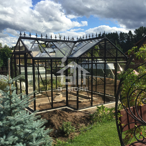 Luxury orangerie aluminum frame outdoor sun room glass house for living