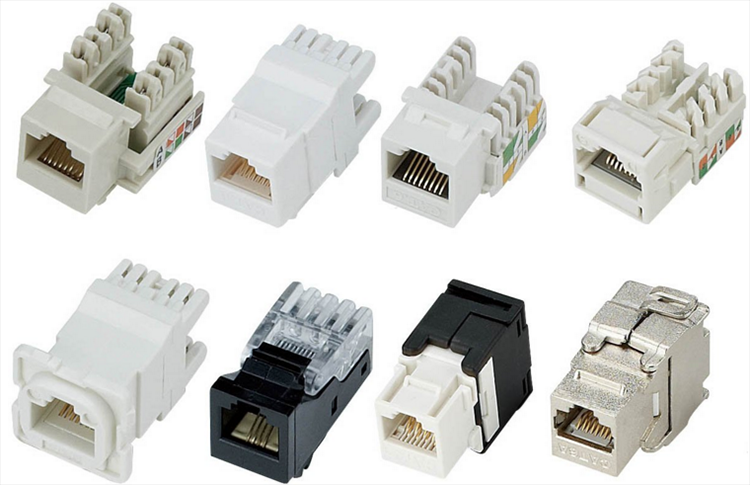 Glory RJ45 Keystone Cat6 Unshielded UTP Module Keystone Jack Network Connector