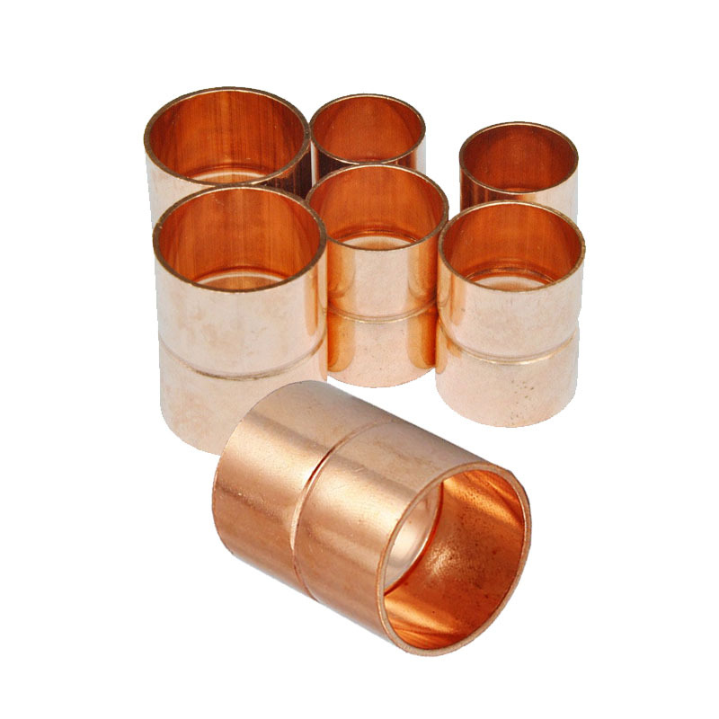 42*1.2mm HVAC Equal Cooper Pipe Fitting Straight Coupling Plumbing For Air Conditioner  Refrigeration,Freezer,Cooler,Parts