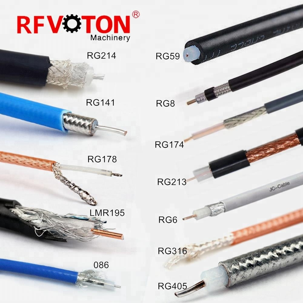 305m carrete de cable RG59 RG6 5C2V RG7 RG8 RG11 RG174 RG213 RG214 RG223 RG58 cable Coaxial