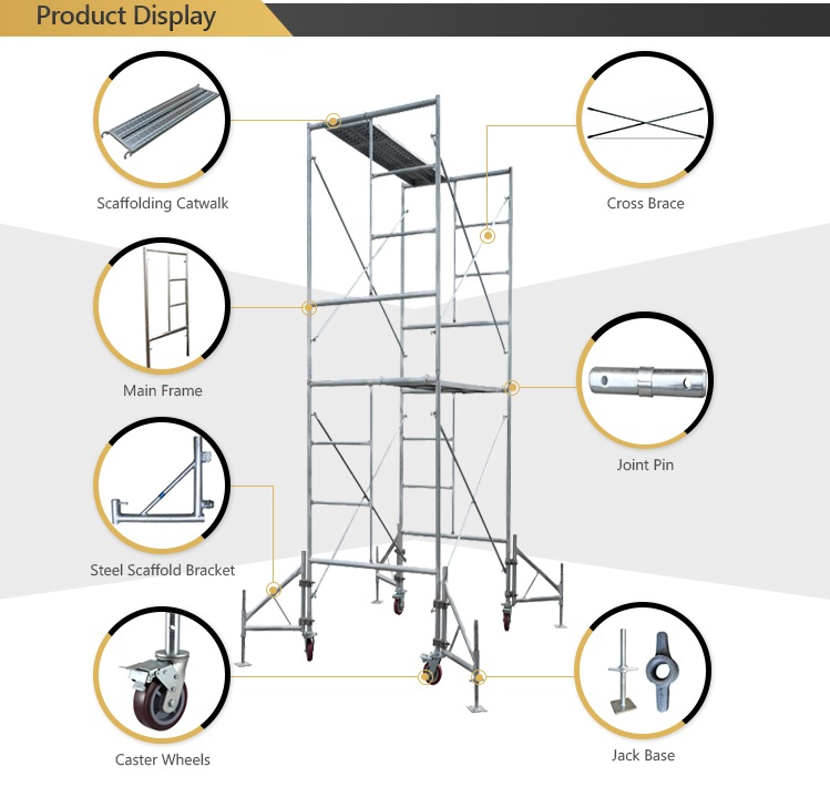 Tianjin TSX1013 Scaffolding steel h ladder and door frames