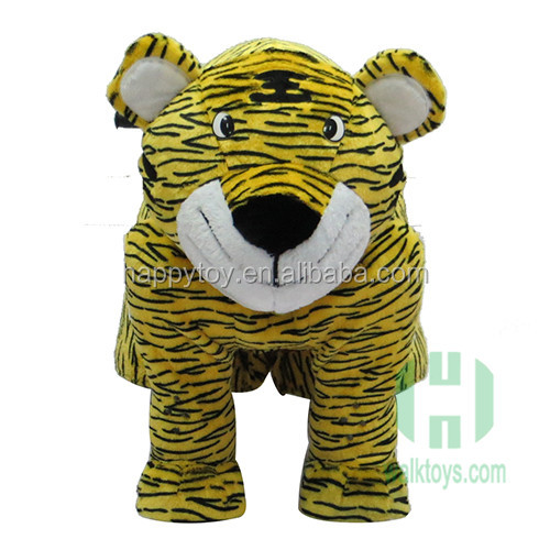 Kiddie happy toys furry electric animal ride on car tiger king design