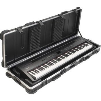 korg pa3x pro 76 keyboard flight case with profile wheels