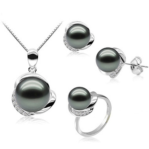 High Quality 925 Sterling Silver Pearl Jewelry Sets Design Mother Of Pearl Set China Factory Wholesale