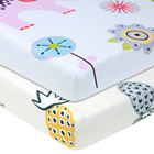 100% Organic Cotton Fitted Crib Sheet Comfortable Baby Bed Sheet