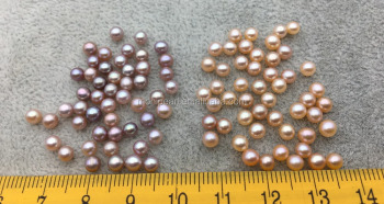 AAA 3.5-4mm pink or purple round seed freshwater pearls,half hole,tiny pearl supply,good quality,no hole,through hole
