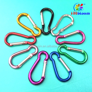 Factory directly wholesale 5cm aluminum carabiner keychain metal hook karabiner clip bag parts & accessories