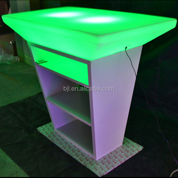 Outdoor Portable Bar Furnitures 16 Colors Changing Supply Light Up Party Stand  Up Cocktail Table
