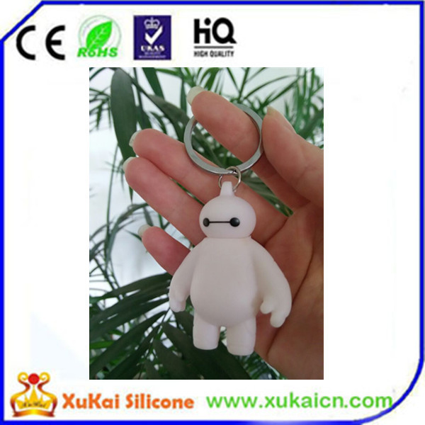 soft pvc silicone withe cartoon key chian