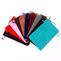 10x16cm Velvet Bag Drawstring Gift Bag Pouches Bracelet Charms Watch Jewelry Packaging Bags