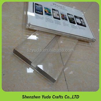 Customized slotted acrylic card holder blocklucite business card customized slotted acrylic card holder block lucite business card block wholesale colourmoves