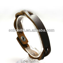 Plain leather arm cuffs china factory