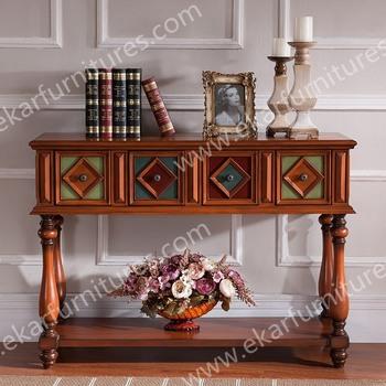 Antique Living Room Set Oak Wood Stand Wood Carving Furniture