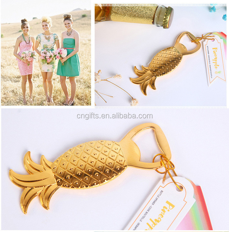 New!! Wedding party gifts Gold Pineapple Bottle Opener bridal shower favors