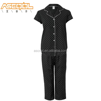 Fashion Design Dots Patterns Mini Sport Matching Family Cotton Pyjamas Women